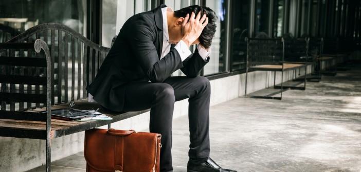 Concept of business failure and unemployment problem.An unemploy